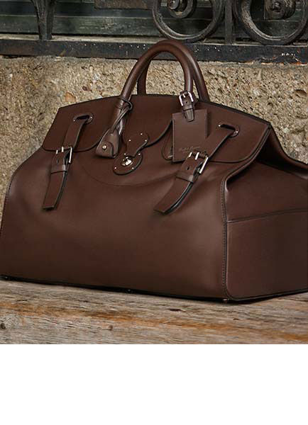 Rich brown calfskin Cooper bag