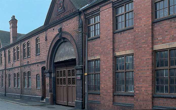 Entrance to Burleigh's Middleport Pottery factory