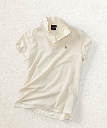 White Polo shirt with multicolored signature embroidered pony